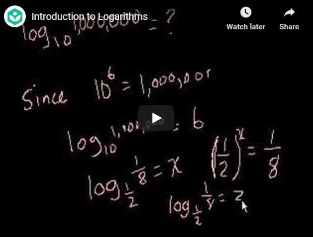 Student's Corner : Logarithms
